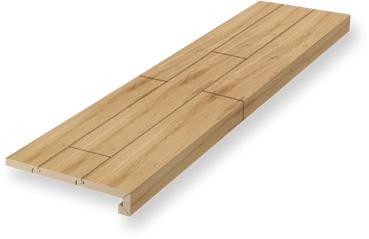 Stufenkantenprofil, zweimal eingeschlagen | Renovierung | Holz-Hauff in Leingarten