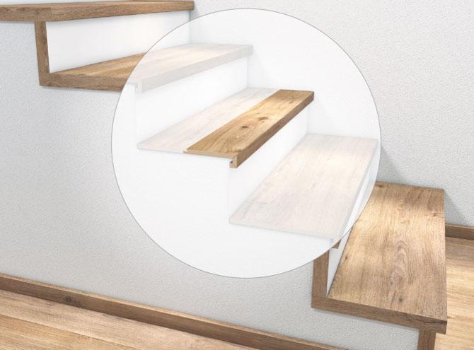 Stufenkantenprofil, zweimal eingeschlagen | Holz-Hauff in Leingarten