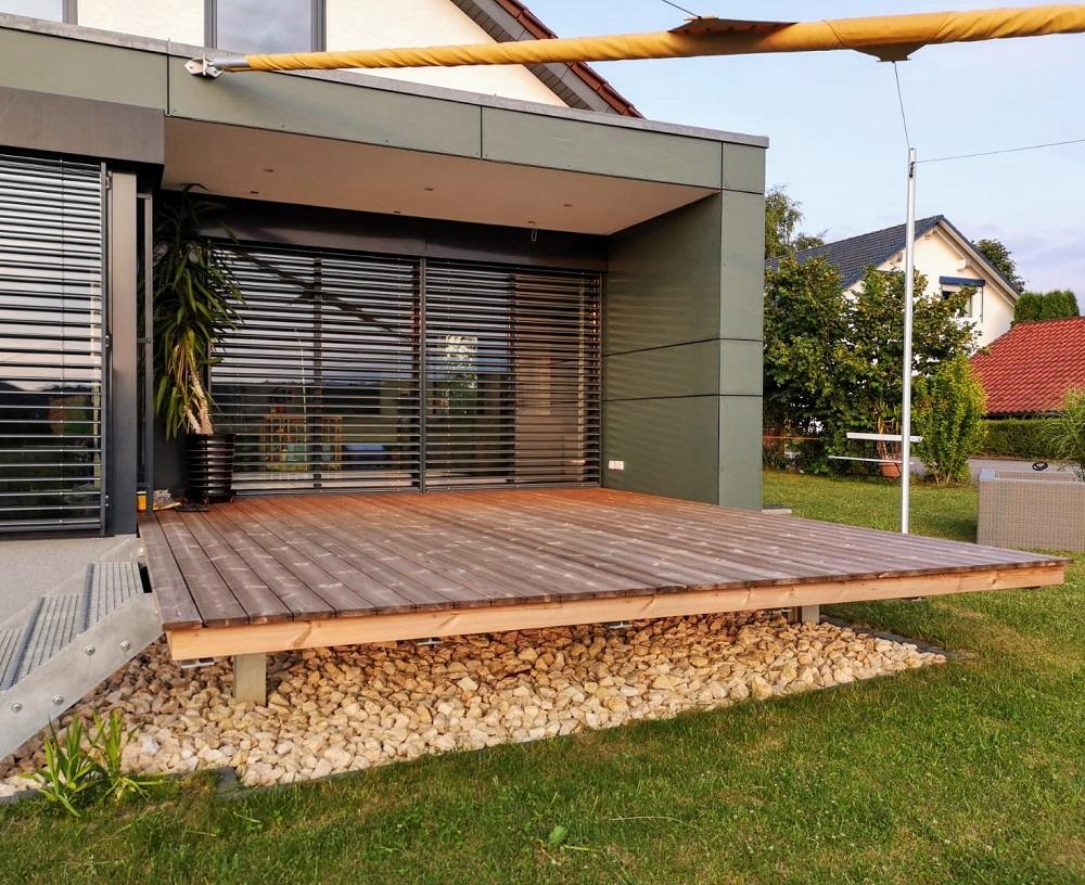 Terrassendielen Thermo Kiefer   bei Holz-Hauff GmbH in Leingarten