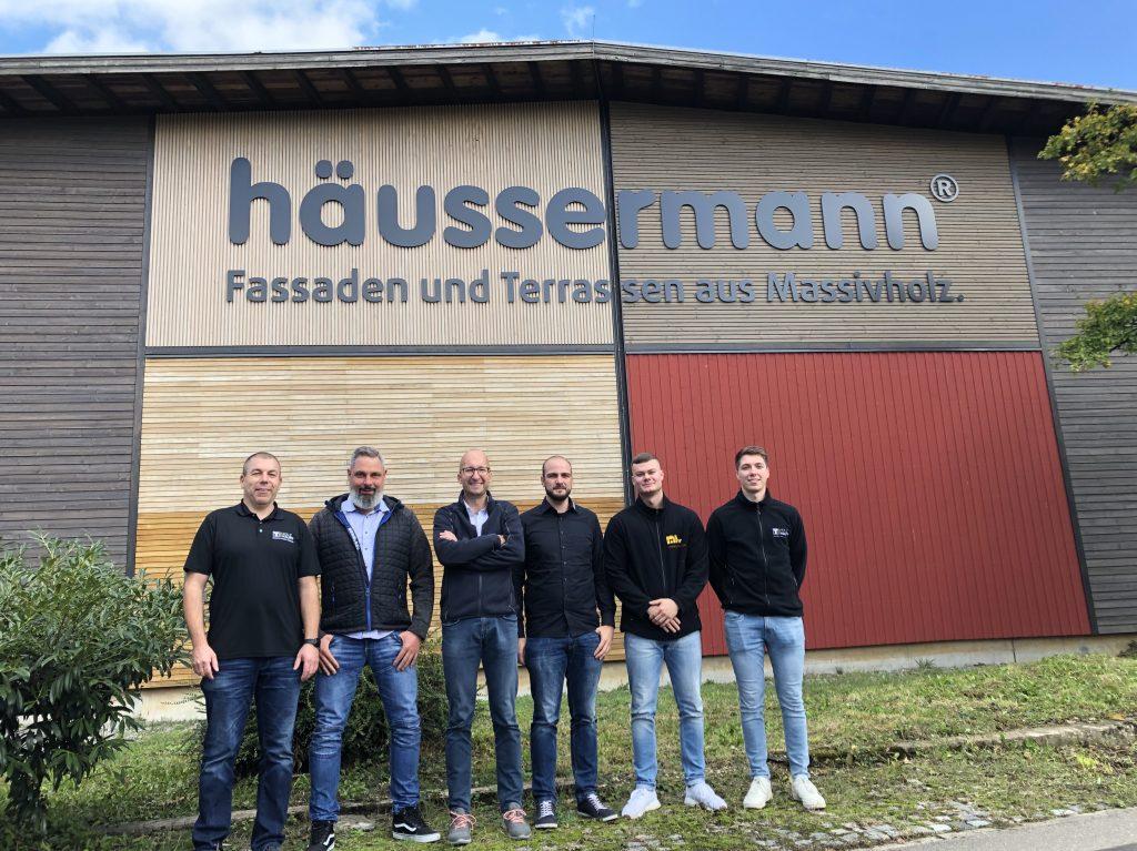 Lieferantenbesuch bei Häussermann Holzbauteam von Holz-Hauff GmbH in Leingarten