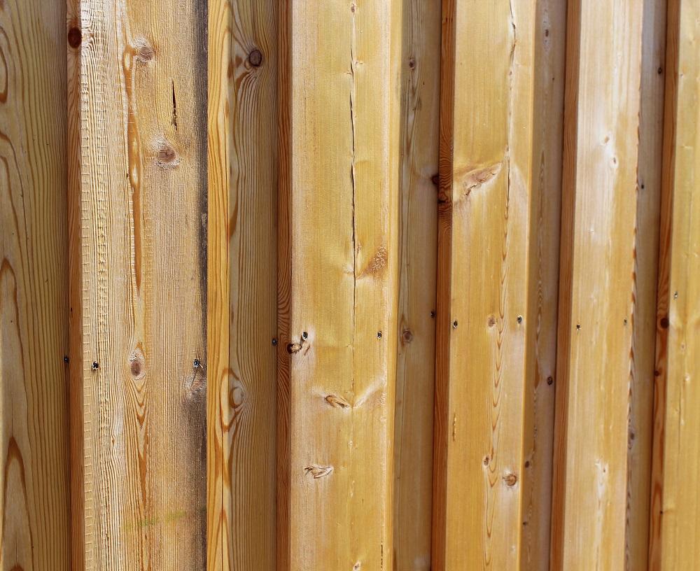 Fassade aus Sib. Lärche bei Holz-Hauff GmbH in Leingarten