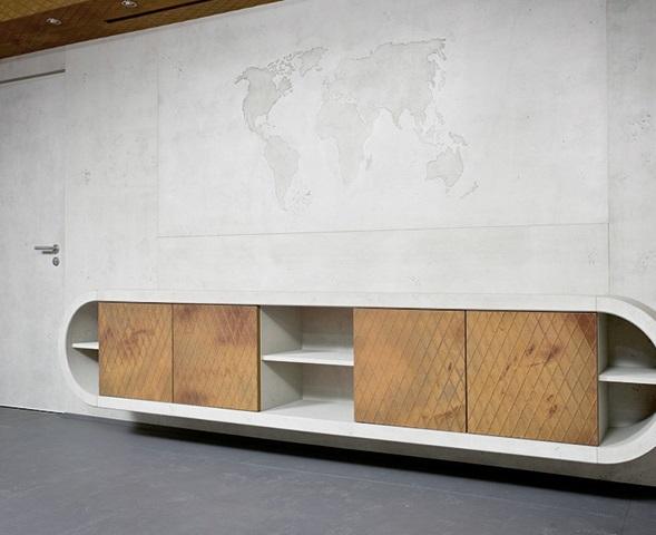 Wandverkleidung Imi-Beton, Sideboard Imi-Rost Raute