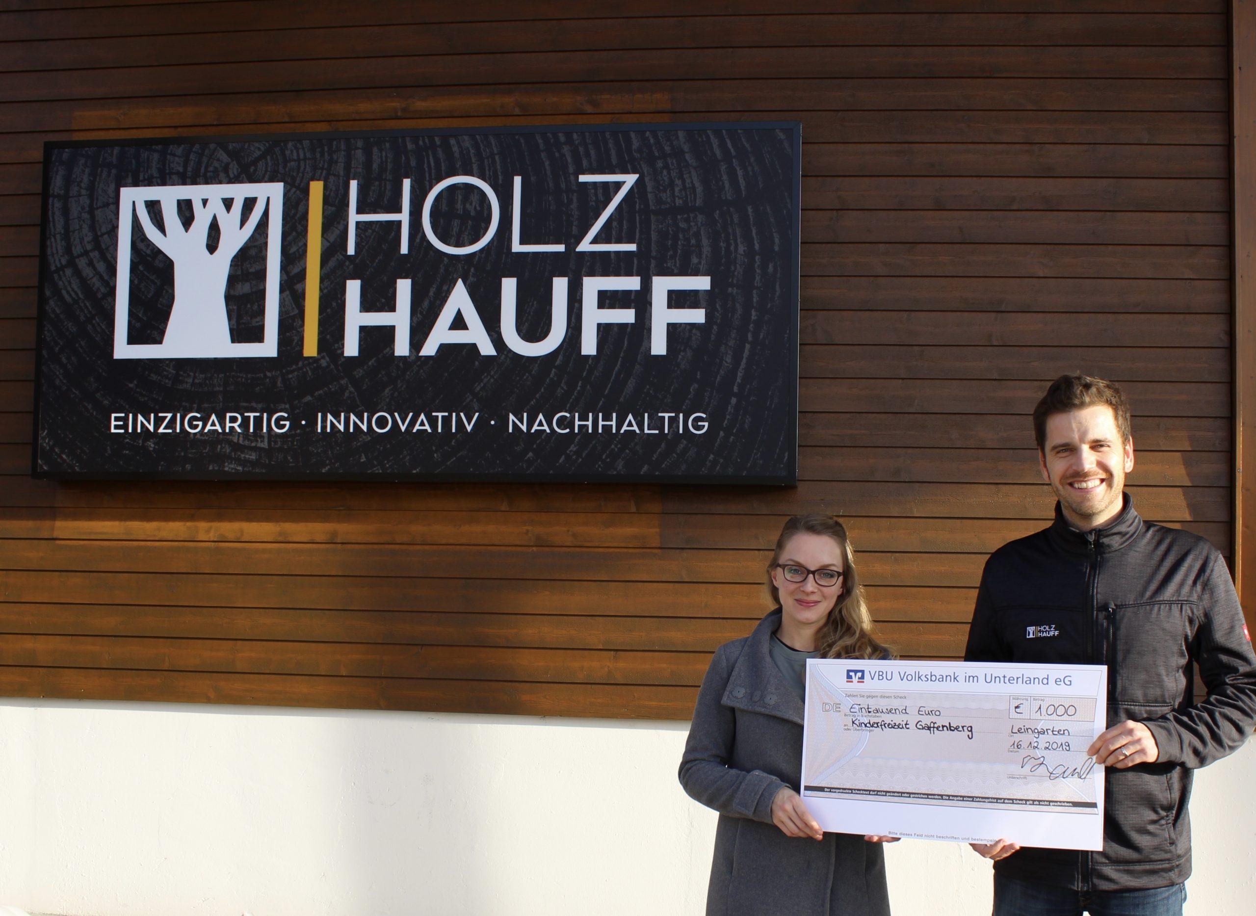 Weihnachtsspende für Gaffenberg | Holz-Hauff GmbH in Leingarten