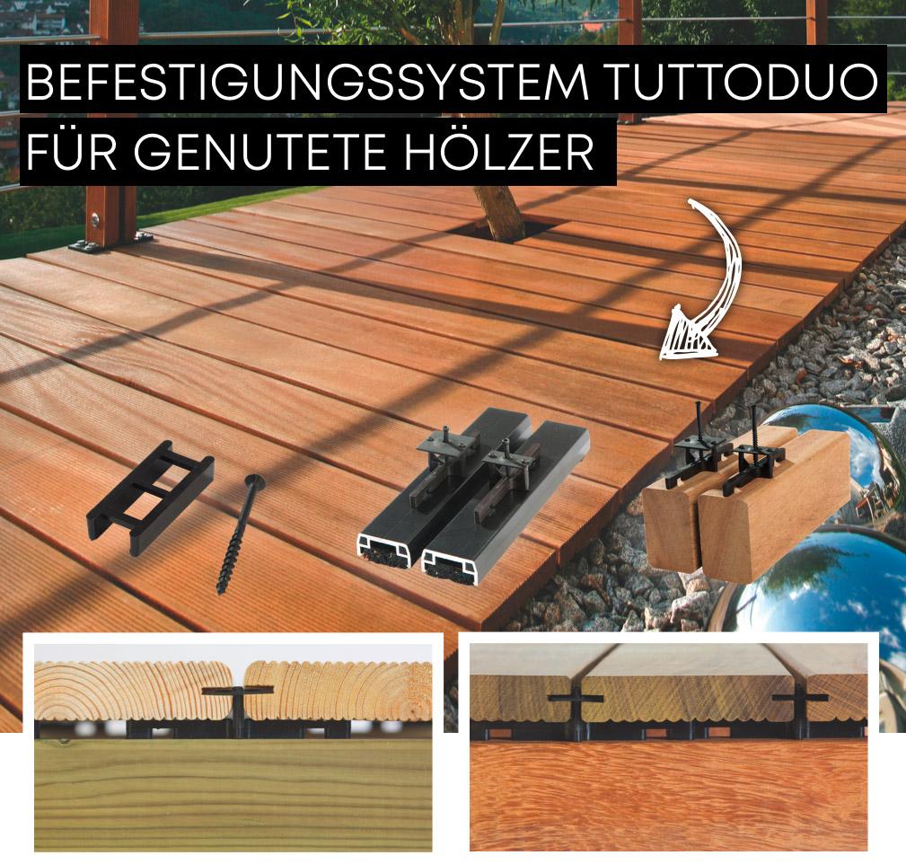 Das Befestigungssystem TuttoDuo | Holz-Hauff in Leingarten