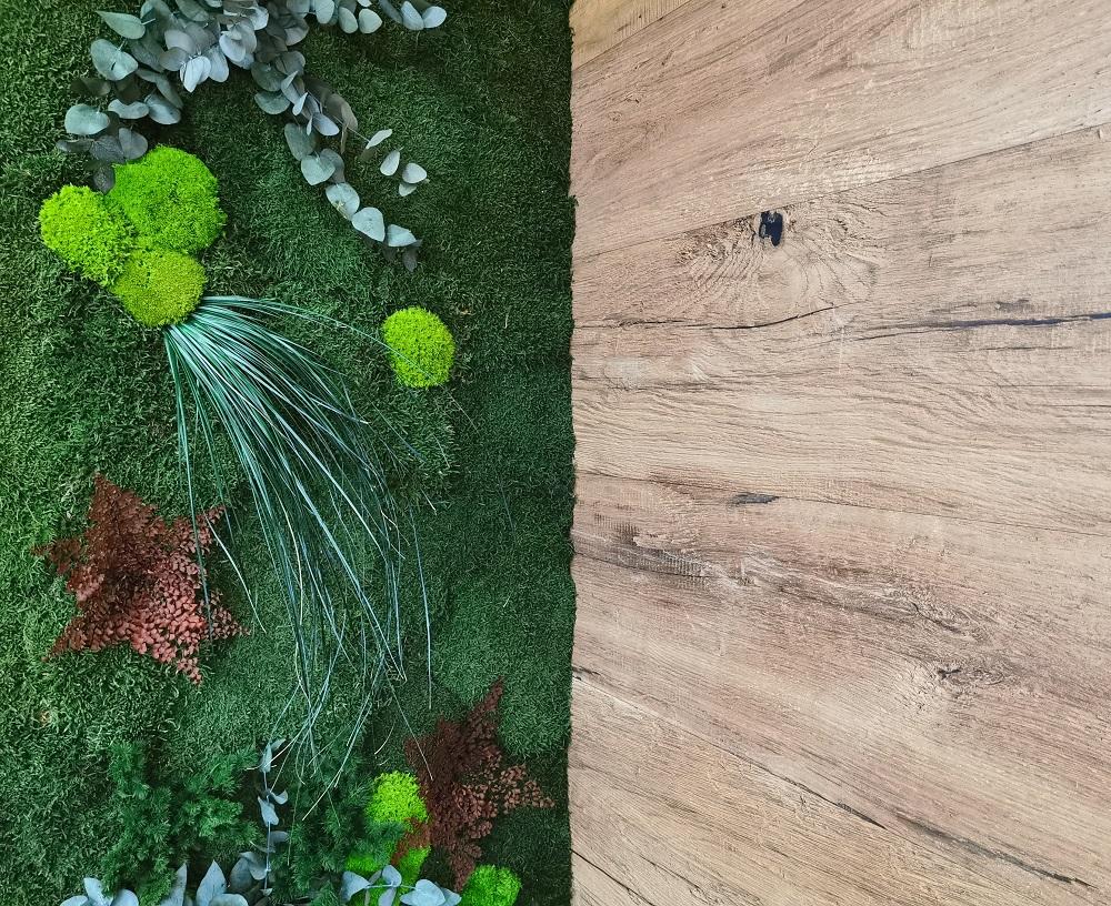 Pflanzenmoosbild auf MDF Platte | bei Holz-Hauff GmbH in Leingarten