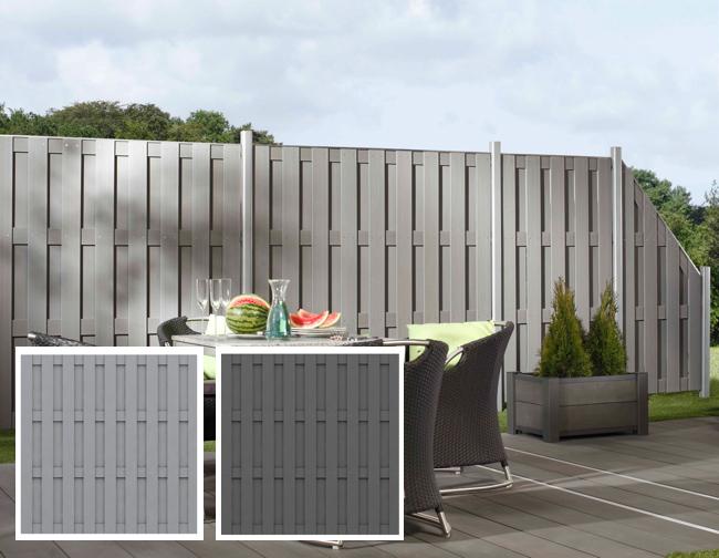 Streichfreier Sichtschutz, System Jumbo WPC | Holz-Hauff in Leingarten