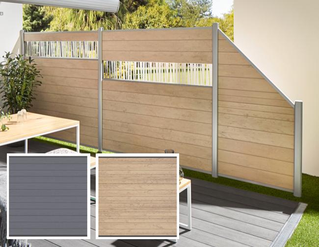 Streichfreier Sichtschutz, System WPC Classic | Holz-Hauff in Leingarten