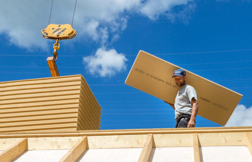 Gutex Ultratherm® – die regensichere Unterdeckplatte | Holz-Hauff in Leingarten