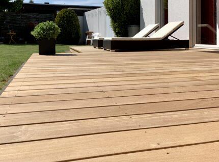 Terrassenbelag aus Garapa | bei Holz-Hauff GmbH in Leingarten
