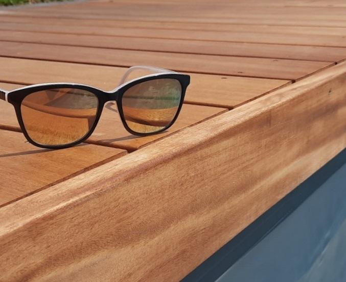 Poolumrandung aus Garapa Terrassendielen | bei Holz-Hauff in Leingarten