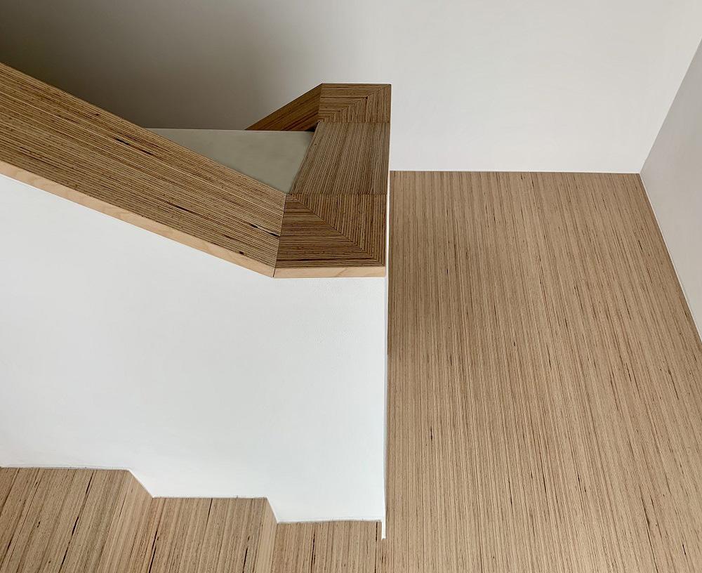 Treppe aus Pollmeier BauBuche Paneel | bei Holz-Hauff GmbH in Leingarten
