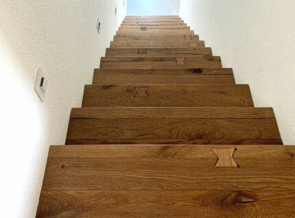 Treppe aus Kährs Parkett Eiche Da Capo Unico | bei Holz-Hauff GmbH in Leingarten