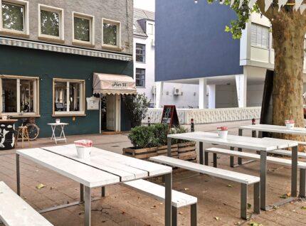 Pier 58 Tische aus Baudielen weiß | bei Holz-Hauff GmbH in Leingarten