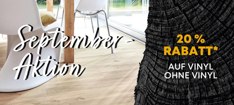 Vinylboden ohne Vinyl: Septemberaktion, 20 % Rabatt | Holz-Hauff in Leingarten
