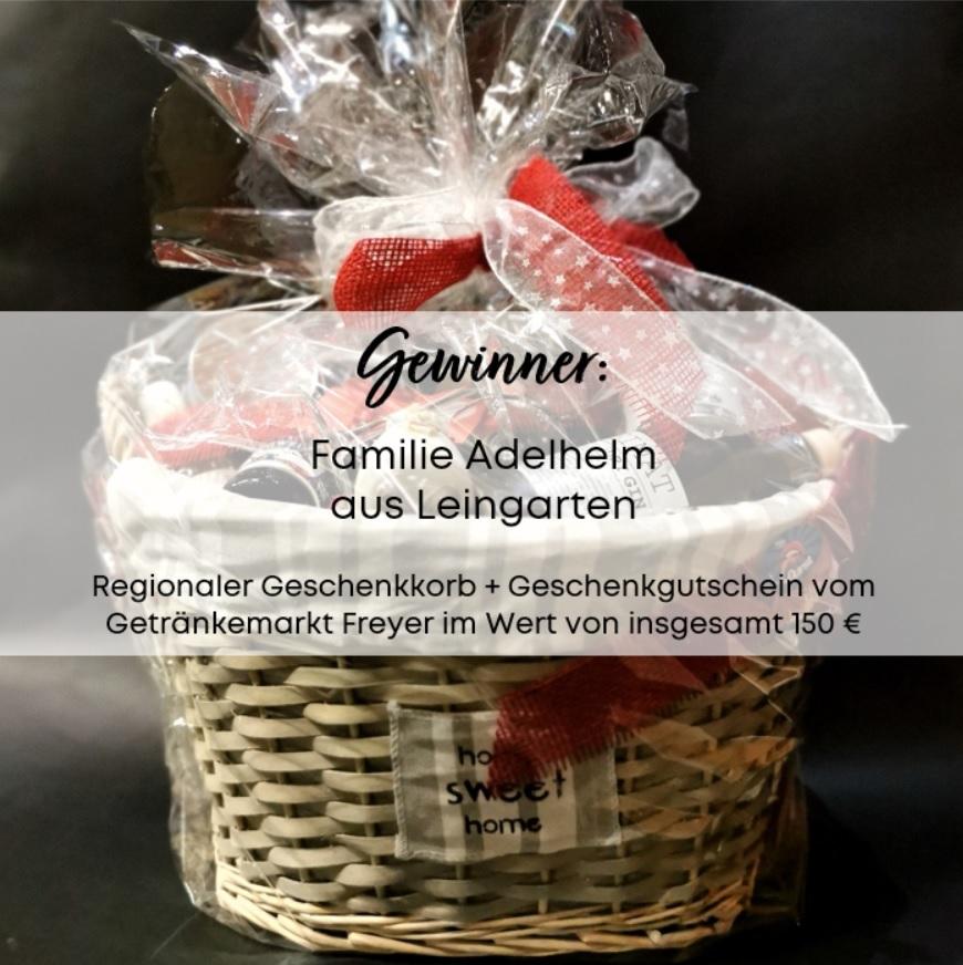 Gewinner Überraschungsgewinn Geschenkkorb + Geschenkgutschein Getränkemarkt Freyer Nr. 23 bei Holz-Hauff GmbH in Leingarten