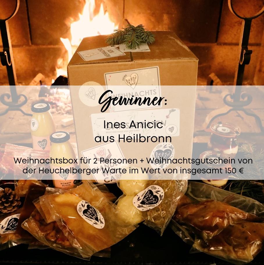 Überraschungsgewinn Weihnachtsbox Gänsebraten + Geschenkgutschein Heuchelberger Warte Nr. 17 bei Holz-Hauff GmbH in Leingarten