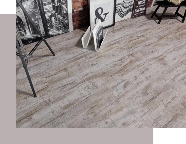 Urban Style: Grauer Boden in Holzoptik | Holz-Hauff in Leingarten