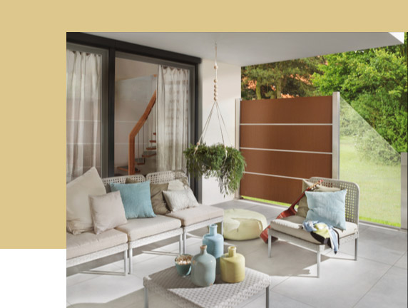 Urban Style: Sichtschutz mit Rost-Patina | Holz-Hauff in Leingarten