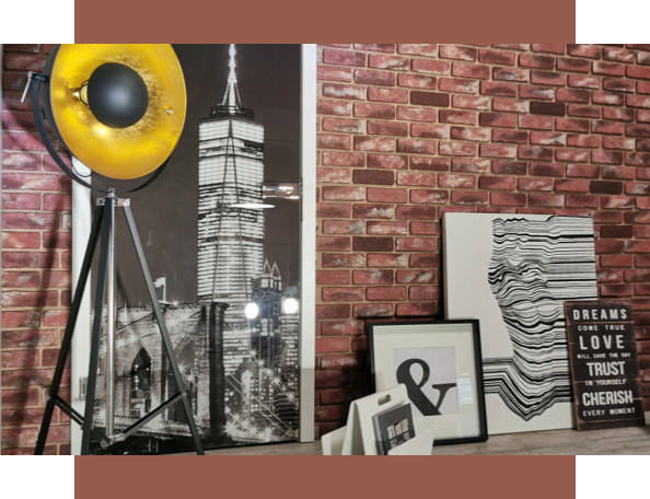 Urban Style: Wandgestaltung für die Backsteinwand | Holz-Hauff in Leingarten