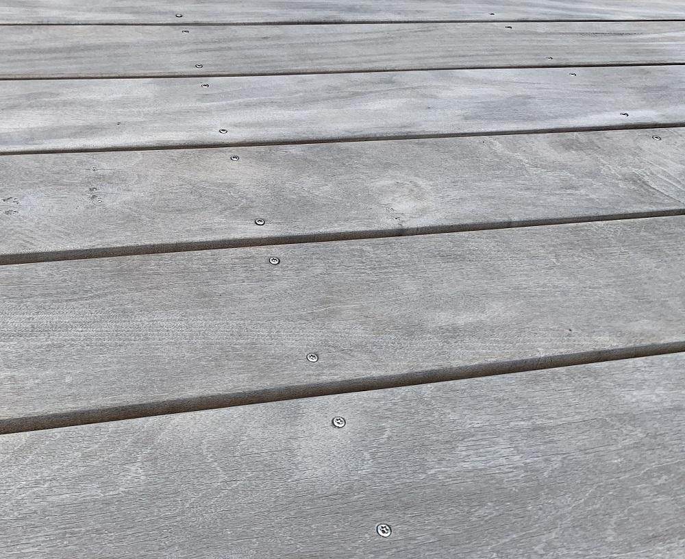 Garapa Terrassendielen vergraut bei Holz-Hauff GmbH in Leingarten
