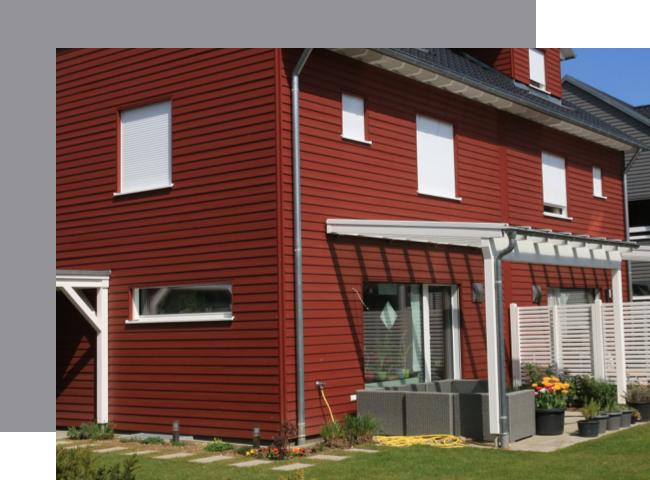Fassade im Scandi Style | Holz-Hauff in Leingarten