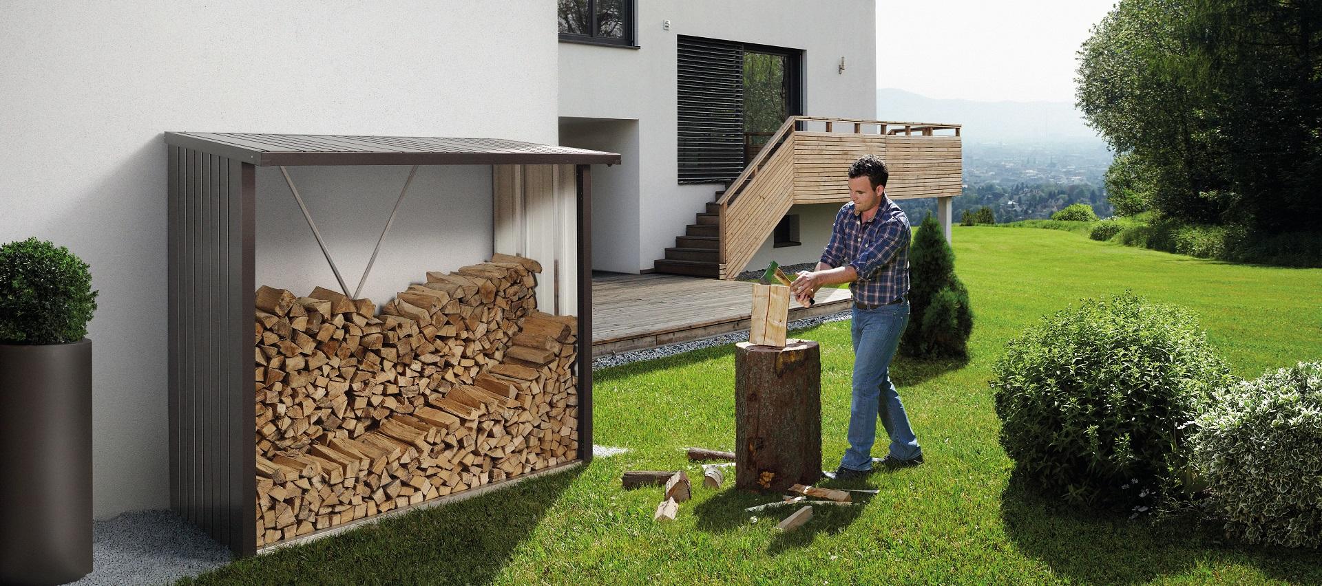 Gartenordnung Kaminholzregal von Biohort bei Holz-Hauff GmbH in Leingarten