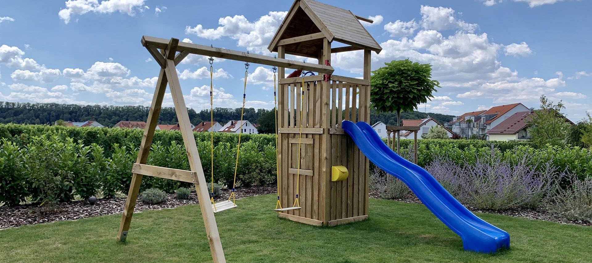 Winnetoo Spielturm von Brügmann TraumGarten bei Holz-Hauff GmbH in Leingarten